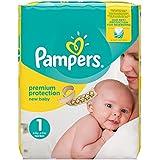 Pampers Premium Protection New Baby Pañales para Recién Nacidos, Talla 1 (2-5 kg) - 72 pañales
