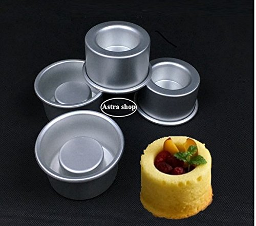 Astra shop 3-Inch Mini Cake Baking Pans Set of 4 - For Making Filled Cakes With Hollow Centers/ Single Serve Mini Baking Pans/ Baking Gift/ Holiday Dessert/ Single Cakes by Astra shop