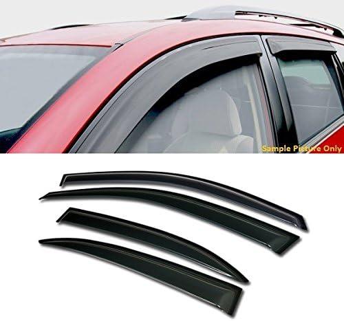 Tape-On Rain Guard Window Visor Dark Grey 4pcs For 2013-2015 Chevrolet Malibu