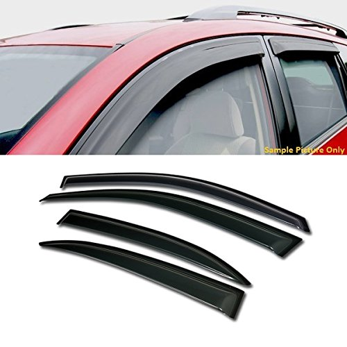 Chevy Malibu Sun Visors (VXMOTOR Curved Style Sun/Rain Guard Smoke Vent Shade Deflector Window Visors 4PC For 2013-2015 Chevrolet Chevy Malibu)