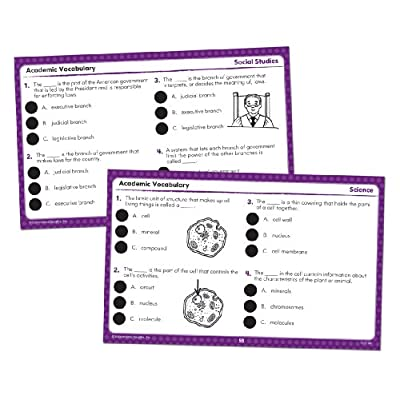 Educational Insights Hot Dots Academic Vocabulary Card Sets- Grades 4-6: Office Products