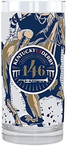 2020 Kentucky Derby Mint Julep Glass - Official Souvenir Glassware of the 146th Kentucky Derby - 4 Pack