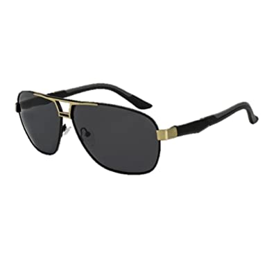 Amazon.com  ROYAL GIRL Men s Sunglasses, 100% Polarized Sunglasses oculos  de sol masculino SS509 (C1-black-gold-grey)  Clothing 17e94c581b