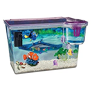 Finding nemo small starter fish tank with internal filter for Small fish tank filter