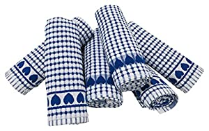 Kitchen Towels , Love Gift, Highly Absorbent, Low Lint, 100% Cotton Dish Towels, High Quality Check Print. Tea Towels, 19 X 31, Chrismas Gift Towel. Bleachable Towels From Roseberry Linen