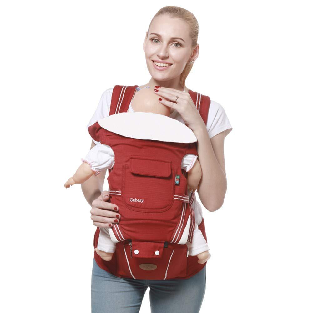 LAPUTA Baby Carrier Waist Stool Infant Sling Holder Kids Anti-Slip Backpack Hip Seat - Jujube Red by LAPUTA