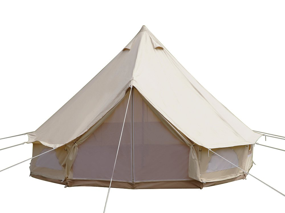 Dream House Diameter 4m Outdoor Luxury Cotton Canvas Family Camping Bell Tents with Stove Hole by Dream House