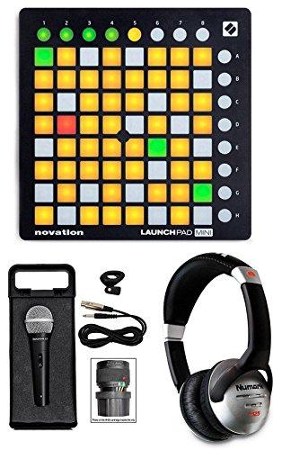 Novation Launchpad Mini Mk2 Mkii Usb Midi Dj Controller + Mic + Headphones
