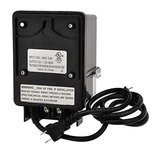 LEDwholesalers 12V AC 88-Watt Landscape Lighting Transformer with Photo Sensor and Rotary Control Timer Switch, UL-Listed, 3267-12V by LEDwholesalers (Image #2)