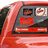 WinCraft Baltimore Orioles Official MLB 11 inch x 17 inch Car Window Cling Decal by 155641