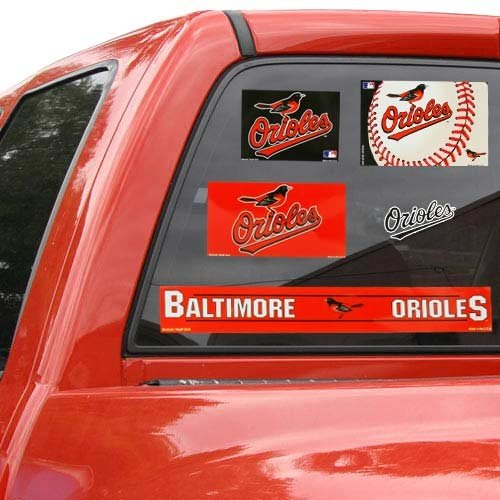 WinCraft Baltimore Orioles Official MLB 11 inch x 17 inch Car Window Cling Decal by 155641 (Decal Orioles Wincraft Baltimore)