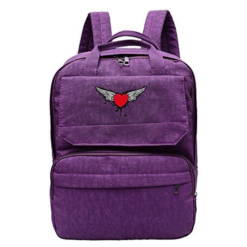 Love Wings Graffiti Backpack For Women,Girls Leisure (Demon Goddess Costume)