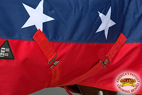 HILASON 78'' 1200D Waterproof Winter Horse Blanket Neck Cover Belly WRAP US Flag by HILASON (Image #7)