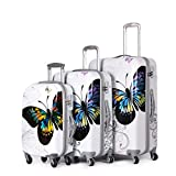 Ice Canada 3-Piece Luggage Set Suitcase Polycarbonate- Large, Medium, Carry On Spinner Hardside