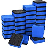 Tatuo 30 Pack Dry Erase Whiteboard Erasers Mini Magnetic Chalk Erasers for Office, Home and Classroom Supplies