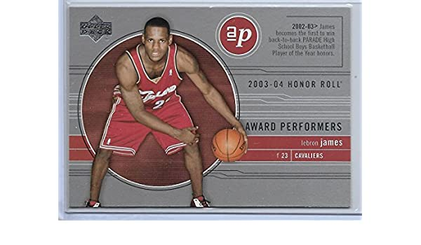 cbfbbd92328 Amazon.com  2003-04 UD Honor Roll Basketball LeBron James Award Performers  Insert Card   AP1  Collectibles   Fine Art