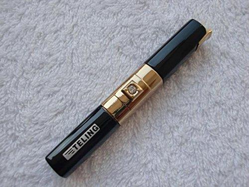Black Diamond Lighter - Diamond Ladies Long Slender Flame Lighter - One Lighter w/Random Color (Black)