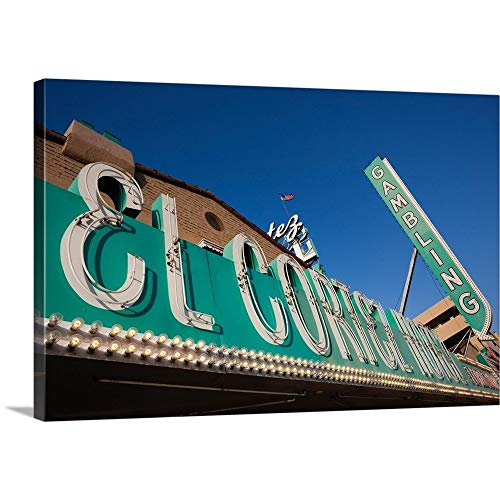 GREATBIGCANVAS Gallery-Wrapped Canvas Entitled Low Angle View of Sign of El Cortez Hotel and Casino, Fremont Street, Las Vegas, Nevada by 18
