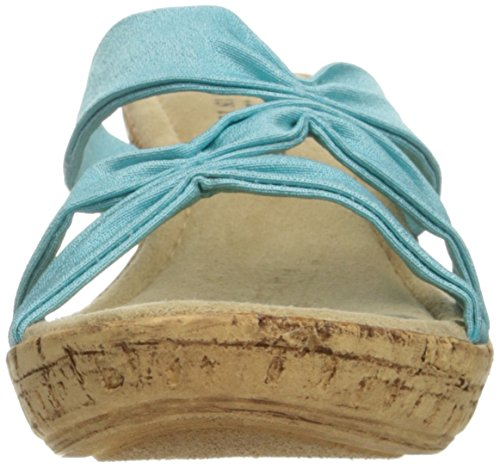 Sandal Easy Turquoise Lauria Wedge Women's Street wOYCqv