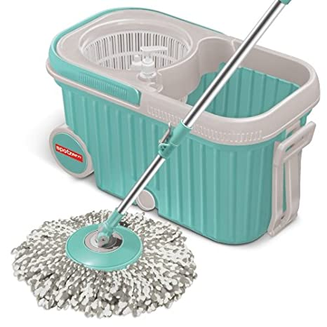Spotzero by Milton Elite Spin Mop with Bigger Wheels and