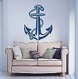 Customwallsdesign Anchor Wall Decal Art Decor Sticker Vinyl Nautical wall decal nautical wall decor
