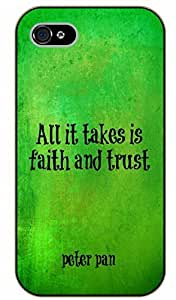 iPhone 5 / 5s All it takes is faith and trust - black plastic case / Inspirational and motivational, Peter Pan quote