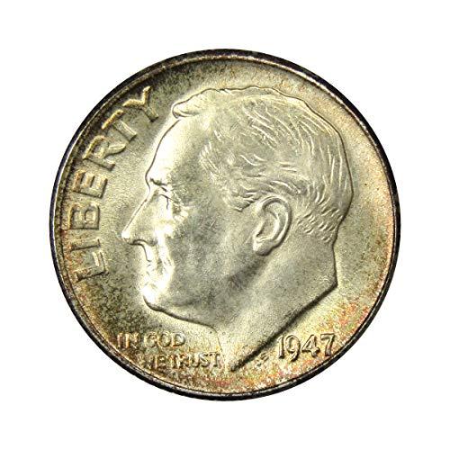 (1947 Roosevelt Dime MS-60)