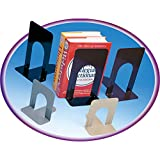 Charles Leonard Inc. 87515 5'' Black Steel Non Skid Bookends