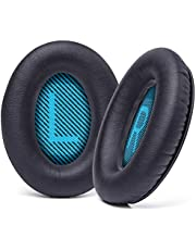 WC Wicked Cushions Premium Replacement Ear Pads for Bose Headphones - Compatible with QC15 / QC25 / QC35 & 35 ii / QC2 / AE2 / AE2i / AE2W / Soundlink - Softer Leather, Luxury Memory Foam | Black