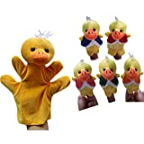 Finger Puppets Baby Kids Children Story Telling Educational Hand Toy Gift The Little Piggy Five Little Ducks