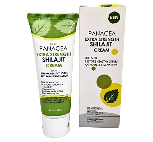 Panacea HP Natural Anti Aging Skin Rejuvenation and Joint Pain Relief Shilajit Cream - 1.68 oz