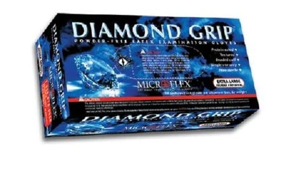 Diamond Box Xl >> Microflex Mf300xl Powder Free Diamond Grip Latex Gloves Xl 100 Gloves Per Box 2 Pack