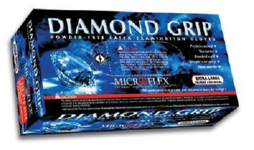 Microflex MF300XL-10PK - Diamond Grip Powder-Free Latex Gloves - Case Of 10 B... by Microflex