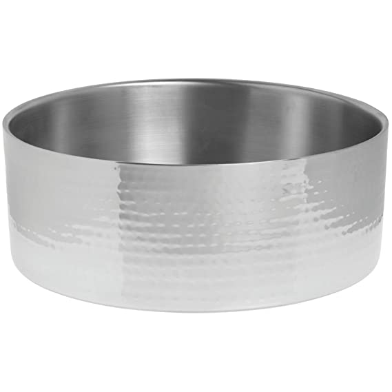 """American Metalcraft HMOV1621 20/"""" Oval Hammered Stainless Steel Bowl"""
