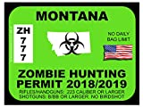 Montana Zombie Hunting Permit(Bumper Sticker)