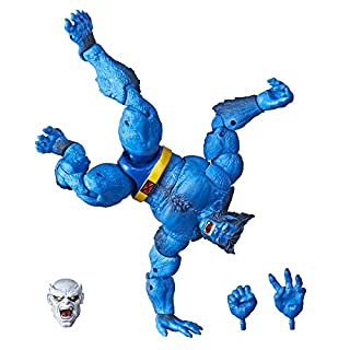 "Marvel Hasbro Legends Series 6"" Collectible Action Figure Beast Toy (X-Men Collection) – with Caliban Build-A-Figure Part"