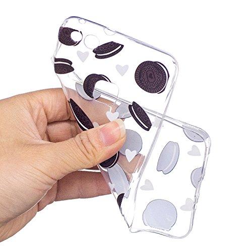 Funda para Huawei P10 Lite , IJIA Transparente Galletas Oreos TPU Silicona Suave Cover Tapa Caso Parachoques Caja Suave Carcasa Shell Cubierta para Huawei P10 Lite (5.2) WM117