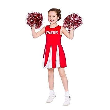 Cheerleader Chicas Disfraz Rojo Y Blanco Para Niños Xl 11