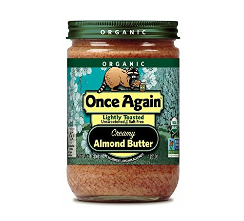 Almond Butter Toasted - Once Again Organic Lightly Toasted Creamy Almond Butter 16 Oz