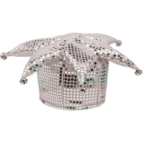 - White Sequined Jester Hats