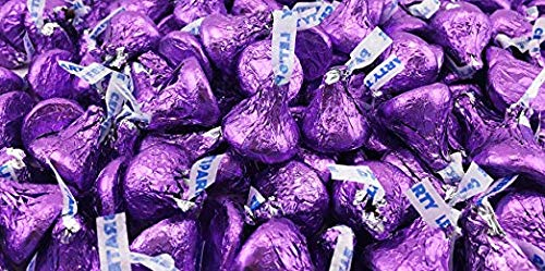 (Hershey's Kisses Dark Purple Dark Chocolate- 2lbs)