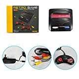 ElementDigital MD16 Classic Game Console, ZD-01-A Black Card 16-Bit, Supports AV Output, with 2 wired Controllers, Compatible with All Sega MD Card Game