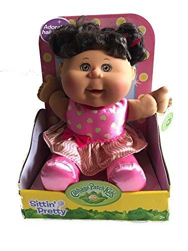 Cabbage Patch Kid's Sittin' Pretty Toddler Doll (Brown Hair, Brown Eyes)