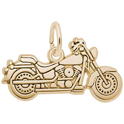 Rembrandt Charms Motorcycle Charm, 14K Yellow Gold