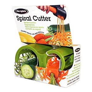 Microplane Spiral Slicer Green 48709 Dual Slicing Sizes Stainless Steel Blades