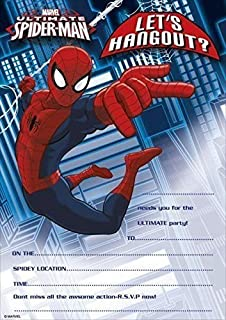 Marvel Ultimate Spider Man Party Invitations Pack Of 20 Invite