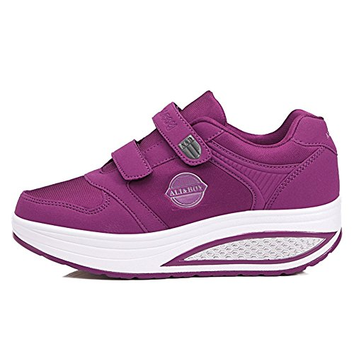 Aged Bottom Thick Alters Mittleren Shoes New Shake Shaking Sportschuhe ältere Middle Frühling Rutschfeste Fitness Frauen Soft Schuhe Shake Casual Shoes Mutter Lila Herbst Schuhe Bottom qq0AwP