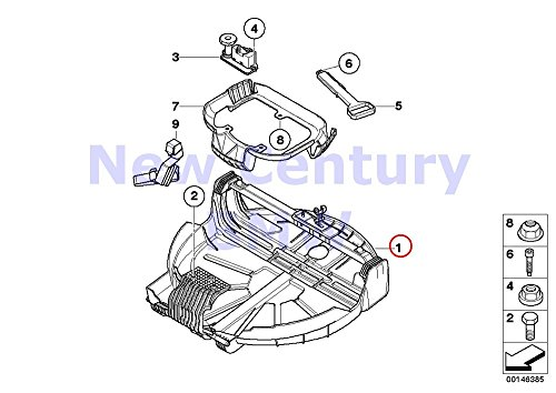 BMW Genuine Space Saver Spare Tire Cup Space Saver Spare Tire Cup X3 3.0i X3 3.0si (Saver Spare Space Tire)