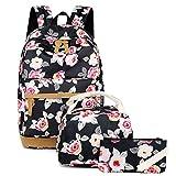 Meisohua Cute floral backpack canvas backpack school bookbag travel rucksack for women girls