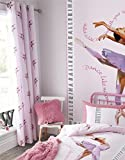 SMALL BALLERINA DANCERS PINK COTTON BLEND 66' X 72' - 168CM X 183CM RING TOP CURTAINS